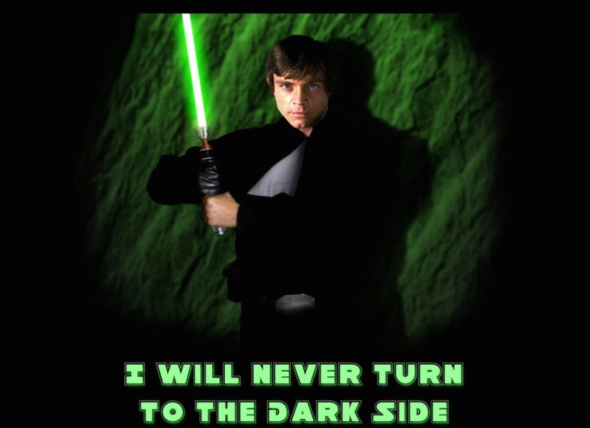 I will Never Turn to the Dark Side Meme | SpiritMAMA Blog