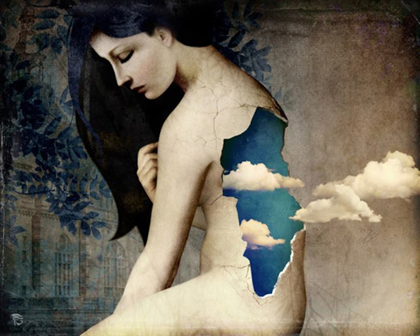Woman With Clouds by Christian-Schloe | SpiritMAMA Blog
