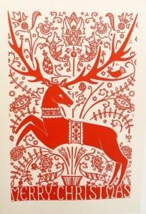 Merry Christmas Reindeer Card | SpiritMAMA