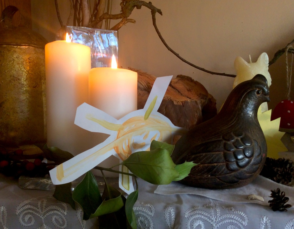 Altar with Ptarmigan Statue 2015   SpiritMAMA Blog