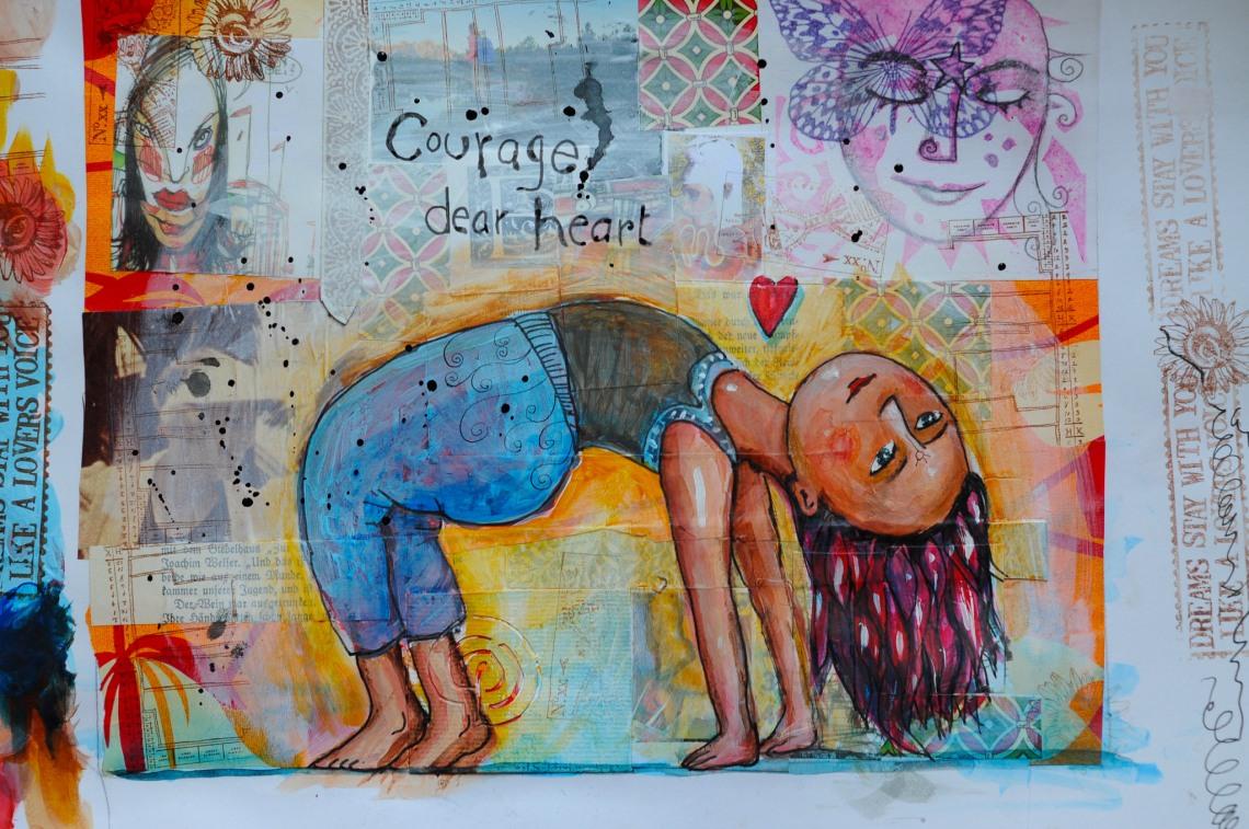 Courage Dear Heart Art | SpiritMAMA Blog