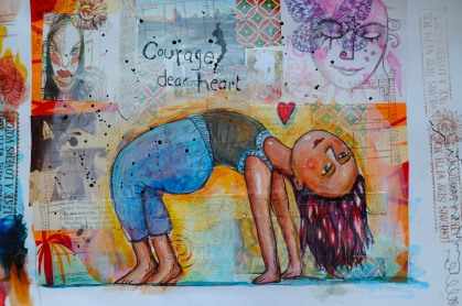 Courage Dear Heart Art | SpiritMAMA Blog