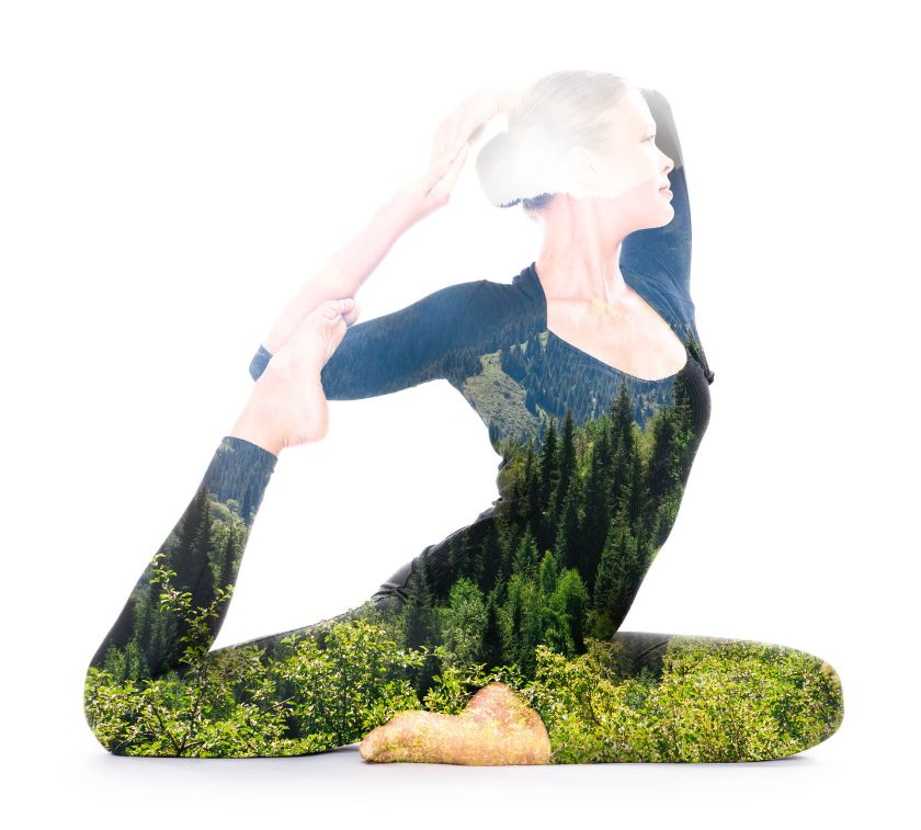 Yoga Double Exposure by Victor Tondee | SpiritMAMABlog
