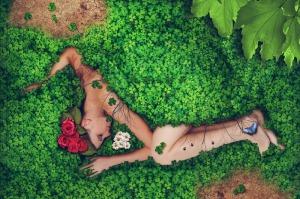Woman Covered in Flowers | SpiritMAMA Blog