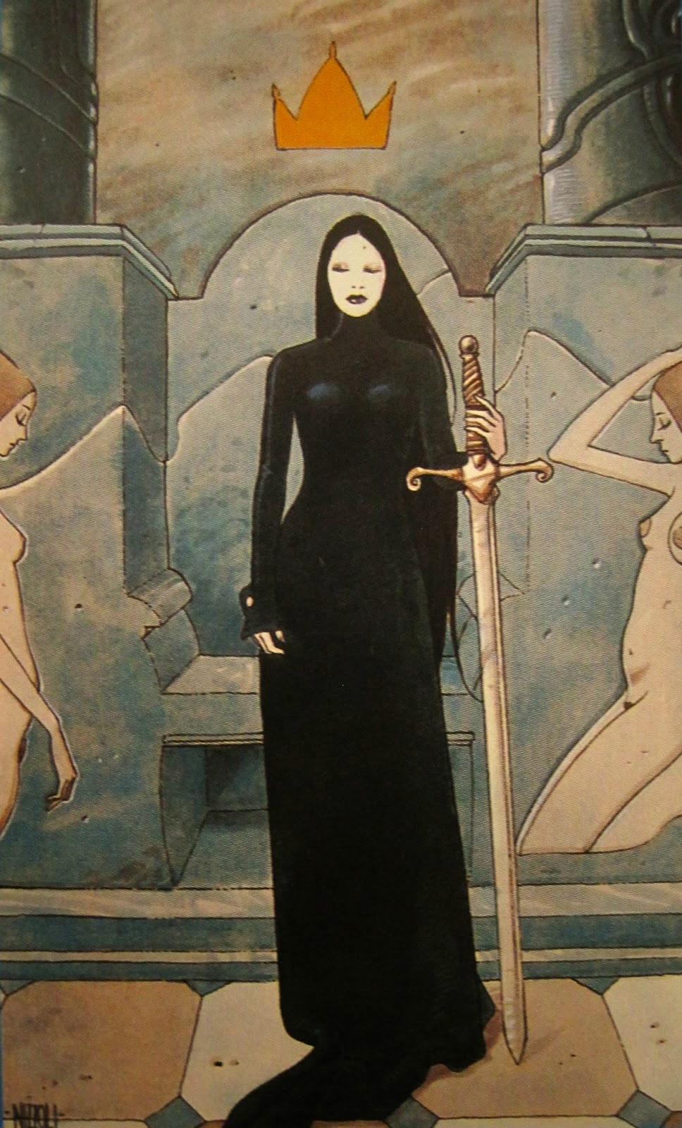 Queen of Swords Secret Tarot - SpiritMAMA
